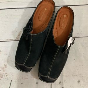 Black Suede Mule Shoes By Naturalizer Size 10 M